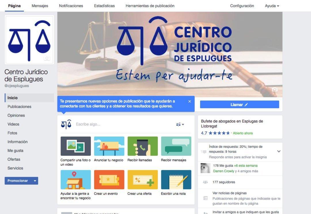 Facebook Centro Jurídico de Esplugues