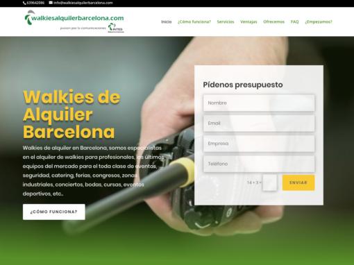 Alquiler Walkies Barcelona